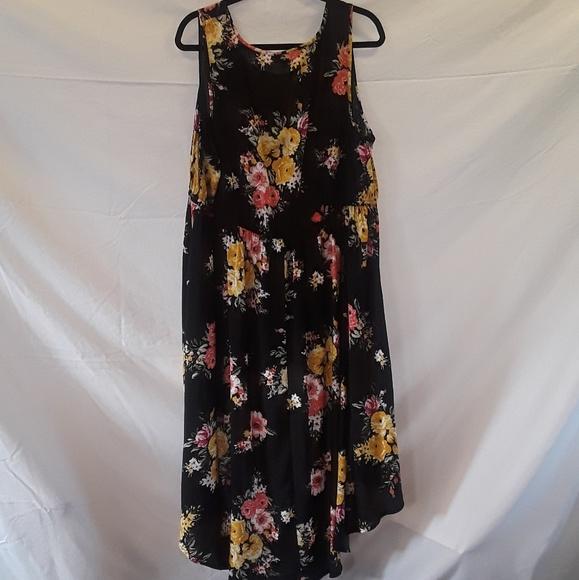 5d7f985a torrid Dresses | Floral Challis Hilo Babydoll Tank Size 2 | Poshmark